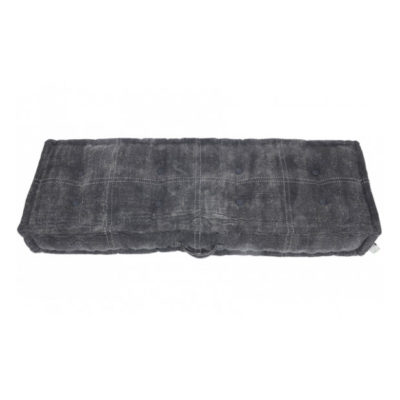 Matraskussen van 120x40x15 cm in mooi donkergrijs