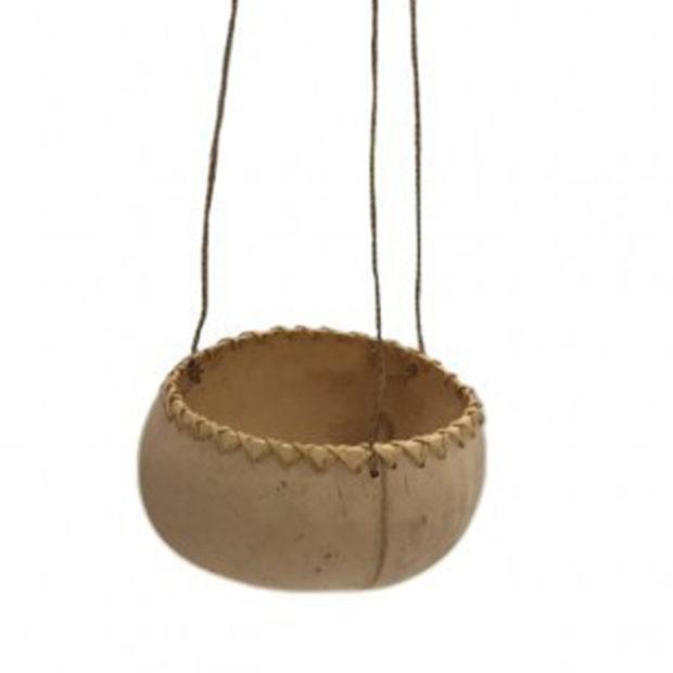 Cocos hangpotje in beige