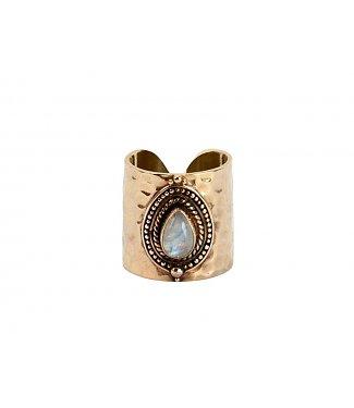 Verguld zilveren ring Sheila