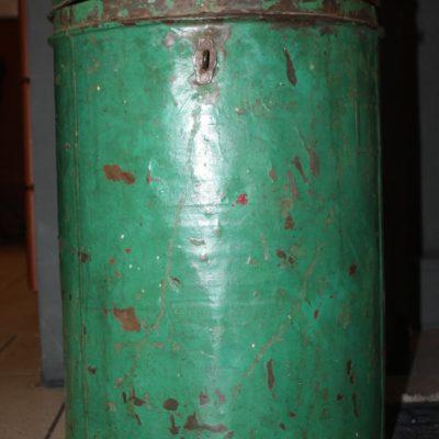 Vintage groen blik