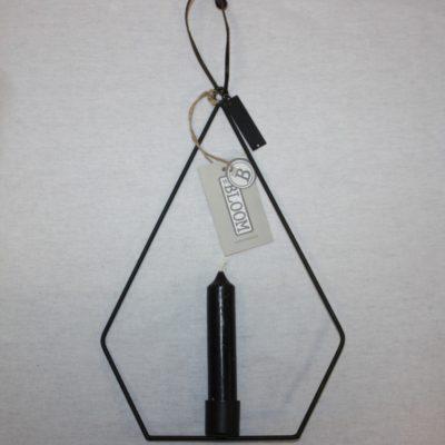 Mat zwarte hangkandelaar van Mrs Bloom