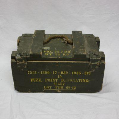 Vintage houten munitiekist