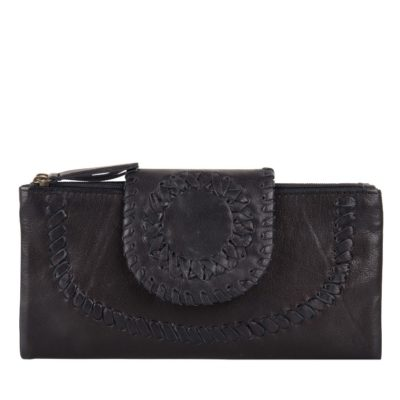 Chabo bags Zwart lederen portemonnee