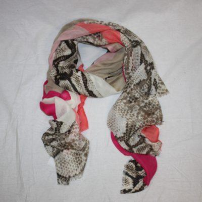 Dunne fleurige sjaal met allover print