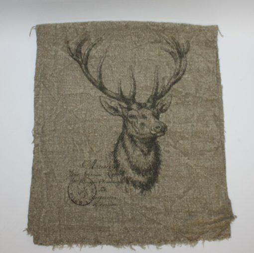 Stoere linnen doek Edelhert San Ibisas Nunspeet