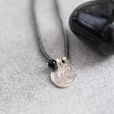 Trendy ketting met zwarte onyx edelsteen