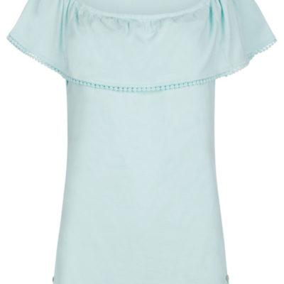 Isla Ibiza Bonita Off Shoulder Top – Turquoise