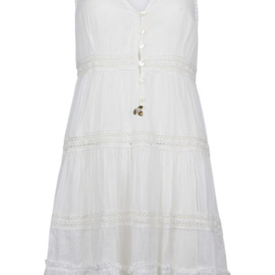 Isla Ibiza Bonita Short Lace Dress – White
