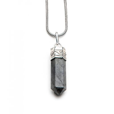 Moost Wanted Caridina Black Crystal Necklace 73CM Silver