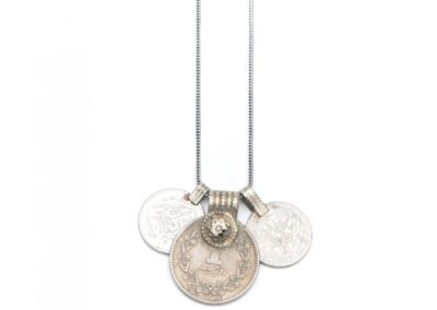 Moost Wanted Tripple Coin Necklace 65CM Silver