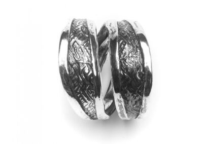Moost Wanted Double Carved Ring Silver