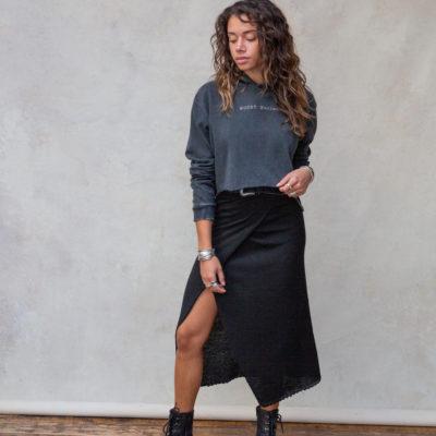 Moost Wanted Gina Wrap Skirt Black