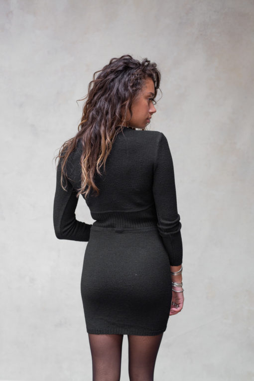 Moost Wanted Isabel Knitted Dress Black