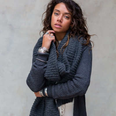 Moost Wanted Maeve Knitted Scarf Stone Grey