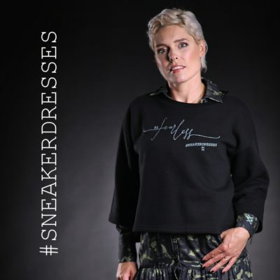 Sneaker Dresses Sweat Be Fearless Black