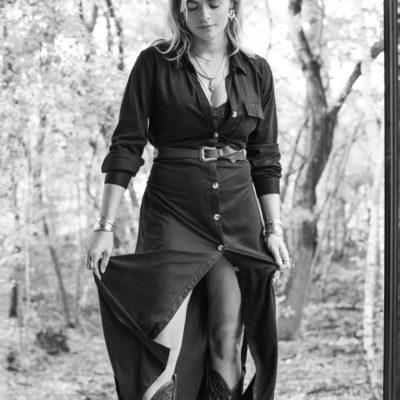 Moost Wanted Evita Dress/ Cardigan Black