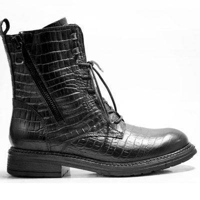 Juul & Belle Croco Boots Black